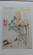 BARRE DAYEZ N° 1280 - LE PETIT DEJEUNER - FEMME - MODE - WOMAN - FASHION - Illustrateur ANDRE STEFAN - Donne