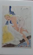 BARRE DAYEZ N° 1280 - LE COUCHER - FEMME - MODE - WOMAN - FASHION - Illustrateur ANDRE STEFAN - Donne