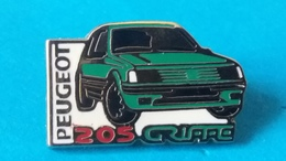 Pin's  PEUGEOT  205  GRIFFE - Porsche