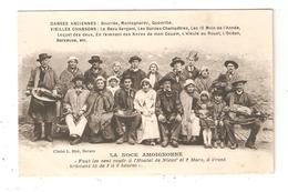 CPA Folklore 58 NEVERS NOCE AMOIGNONNE Personnes En Costumes Traditionnels Vielles Cornemuse - Personnages