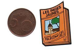 FRANCE TELECOM PAGES JAUNES..ATTACHE PLASTIQUE JAUNE D'ORIGINE - France Telecom