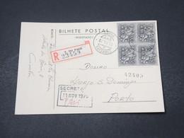PORTUGAL - Carte De Correspondance Commerciale En Recommandé De Lisboa Pour Porto En 1970 - L 16684 - 1910-... République