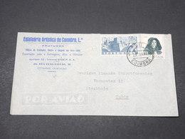 PORTUGAL - Enveloppe Commerciale De Coimbra Pour La Suède En 1947 - L 16685 - 1910-... République