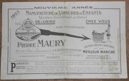 Voitures D'Enfants Pierre Maury - Publicité