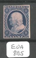 EUA CARRIERS STAMPS SCOTT LO3  REPRINT - 1847-99 Unionsausgaben