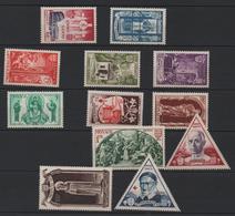 MONACO 1951 - SERIE YT N° 353/364 * (CHARNIERES TRES LEGERES) - Neufs