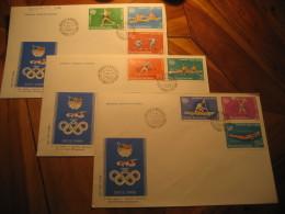 SEOUL 1988 Olympic Games Olympics Yvert 3812/9 BUCHAREST 1988 FDC Cancel 3 Cover ROMANIA South Corea - Summer 1988: Seoul