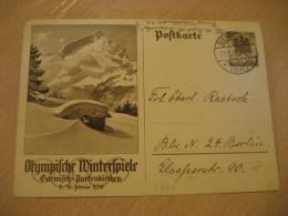 GARMISCH-PARTENKIRCHEN 1936 Winter Olympic Games Olympics BIESENTHAL 1936 Cancel Stationery Card III Reich GERMANY - Winter 1936: Garmisch-Partenkirchen