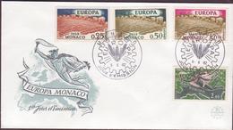 ENVELOPPE TIMBRE 1962  EUROPA MONACO - FDC