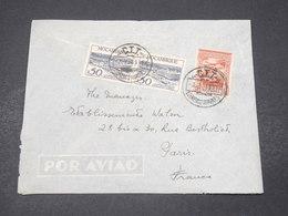 MOZAMBIQUE - Enveloppe De Lourenco Marqués Pour Paris En 1949 , Affranchissement Plaisant - L 16688 - Mozambique