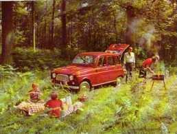 Buvard, Format 16x21 Cm, Automobile Renault 4L - Automobile