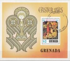"""Grenada 1975 Sc. 643 """"Compianto Su Cristo Morto"""" Quadro Dipinto Botticelli Sheet CTO Paintings Pietà Perf. - Grenada (1974-...)"""