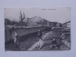 EUVILLE (55): Carte Postale 1916  Route D'Aulnois - Enfant Ecolier - France