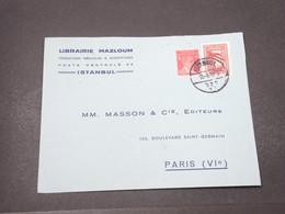 TURQUIE - Enveloppe Commerciale De Istanbul Pour La France En 1939 - L 16696 - 1921-... Republiek