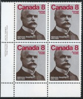 CANADA 1975 SCOTT/UNITRADW 661** LL PLATE BLOCK - Blocks & Sheetlets