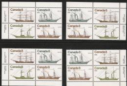 CANADA 1975 SCOTT/UNITRADW 670** FOUR PLATE BLOCK - Blocks & Sheetlets