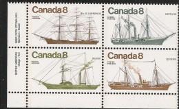CANADA 1975 SCOTT/UNITRADW 670** LL PLATE BLOCK - Blokken & Velletjes