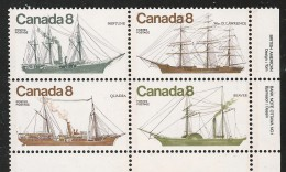 CANADA 1975 SCOTT/UNITRADW 670** LR PLATE BLOCK - Blokken & Velletjes