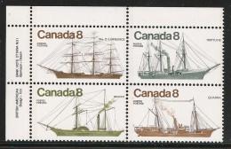CANADA 1975 SCOTT/UNITRADW 670** UL PLATE BLOCK - Blocks & Sheetlets