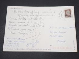 TURQUIE - Affranchissement Sur Carte Postale Pour La France - L 16706 - Brieven En Documenten