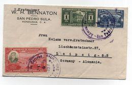 Honduras COVER TO Germany CUSTOMS 1938 - Honduras