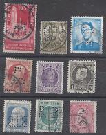 Belgien Belgique Bélgica Belgium België Perforiert Perforés Perfins Perforé Perfin Used 2321 - 1934-51