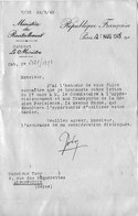 """MINISTERE Du RAVITAILLEMENT  1945 """" Mise à Disposition D'un Camion Pour Le Ravitaillement """" - Camions"""