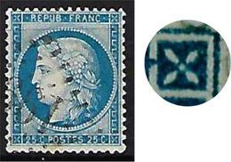 "FR YT 60B "" Ceres 60c. Bleu "" 1871 GC 199 AUBENTON - 1871-1875 Ceres"