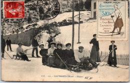 65 CAUTERETS - Les Skieurs (vignette Club Alpin Francais) - Cauterets