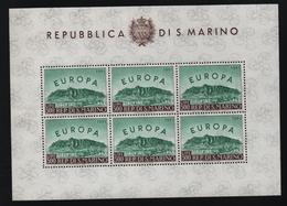 SAN MARINO - FOGLIETTO EUROPA 1961 ** - YVERT N° 523 - Blocs-feuillets