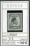 Libyen - Libyia - Libia - Libye - Michel Dienst / Service 2 - ** Mnh Neuf Postfris - Libya
