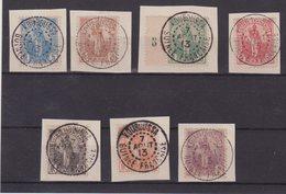GUINEE : TAXES . N° 1/7 . OBL SUR FGT . TB . 1913 . - Guinée Française (1892-1944)