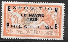 France N° 257A Expo Le Havre Très Bien Centré Signé Infime Trace De Charnière Soldé à Moins De 15   %  Neuf *  TB ! ! ! - Unused Stamps