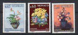 MONACO 1974 - FLORA - COMPOSIZIONI DI FIORI- SERIE COMPLETA-  MNH ** - Monaco