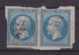 "FRANCE : GC 58 .PAIRE .  "" ALERIA  "" . (19) . N° 22 . TB . SUR FGT . - Marcophily (detached Stamps)"
