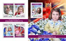 Z08 SRL18301ab SIERRA LEONE 2018 Princess Charlotte MNH ** Postfrisch - Sierra Leone (1961-...)