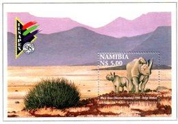 NAMIBIE. BF 52 De 1998. Rhinocéros/Ilsapex'98. - Rhinozerosse