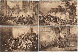 Bruxelles Belgique Episode De La Révolution De 1830 (4 De Cartes) Voir En Dessous Plus Grand - Museums