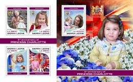 Z08 IMPERF SRL18301ab SIERRA LEONE 2018 Princess Charlotte MNH ** Postfrisch - Sierra Leone (1961-...)