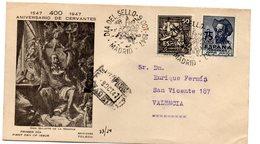 Carta De 1947 Matasellos Dia Del Sello . Aniversario De Cervantes. Circulada - 1931-Oggi: 2. Rep. - ... Juan Carlos I