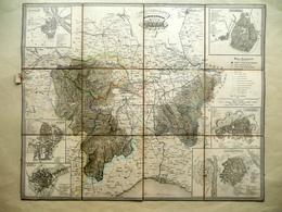 Alessandria Piemonte Carta Corografica Divisione Province Maggi Torino 1859 - Altre Collezioni