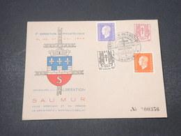FRANCE - Enveloppe Et Oblitération De L 'Exposition Philatélique De Saumur En 1945 - L 16741 - Marcophilie (Lettres)