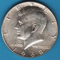 USA ½ Dollar 1968 D Kennedy Half Dollar Argent 400‰ - 1964-…: Kennedy
