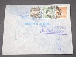 CHILI - Enveloppe En Recommandé De Santiago Pour Paris En 1940 - L 16750 - Chili