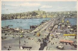 Postcard The Galata Bridge And The Golden Horn Istanbul Turkey  My Ref  B22575 - Turkey