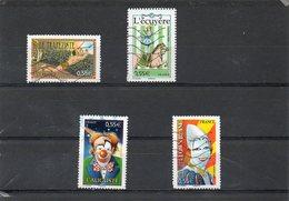 FRANCE   4 Timbres 0,55 €   2008   Y&T: 4216 à 18 Et 4220    Oblitérés - France
