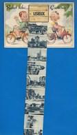 14 - LISIEUX - CARTE SYSTÈME -  RENCONTRE...À BICYCLETTE... - CAP 4 - 1955 - Lisieux