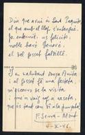 Lloret De Mar.  Firma *Felicià Serra I Mont* Escritor. Texto Autografo, Fecha 1946 - Autógrafos