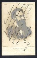 Barcelona. Firma *Manel Rovira I Serra* Escritor, Abogado, Poeta, Dramaturgo. Texto Autógrafo 1907. - Autógrafos
