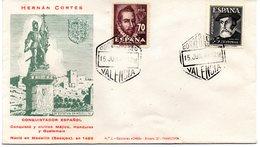 Carta Con Matasellos Correo Aereo Valencia De 1948 Hernan Cortes Y Mateo Aleman. - 1931-50 Briefe U. Dokumente